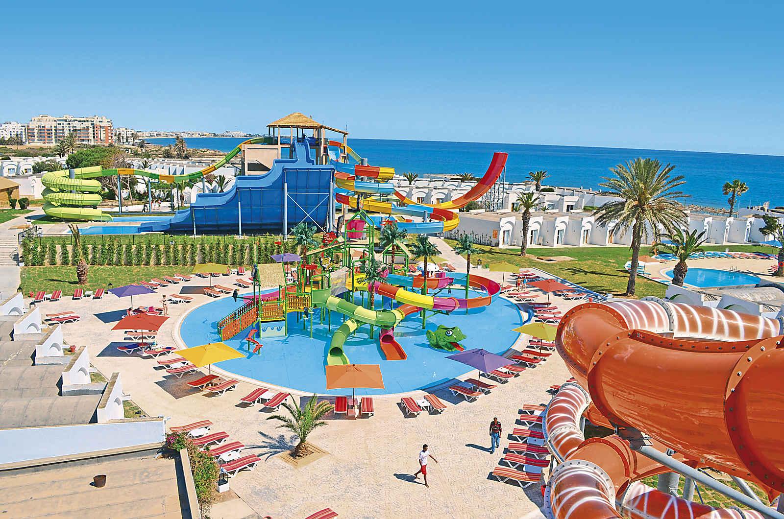Aquaparcs et toboggans géants de l'hotel Thalassa Sousse