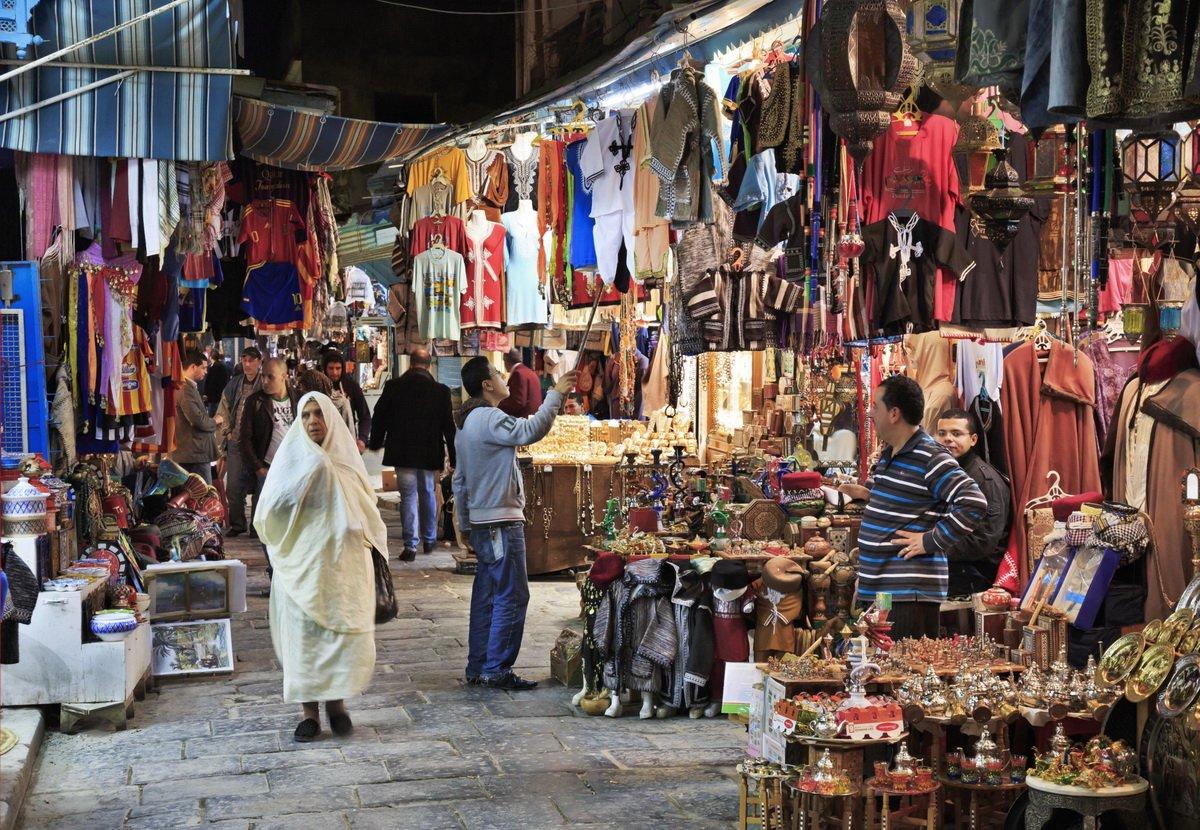 Les Souks de Tunis, centre ville et Medina